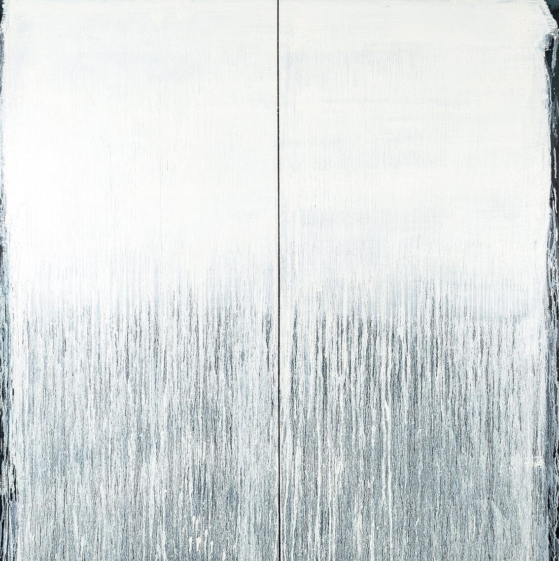 Pat Steir Little Snowstorm original oil on canvas signed titled and dated