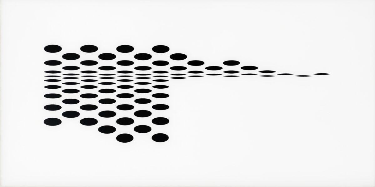 Bridget Riley Untitled [Fragment 7] black and white screenprint on plexiglas for sale