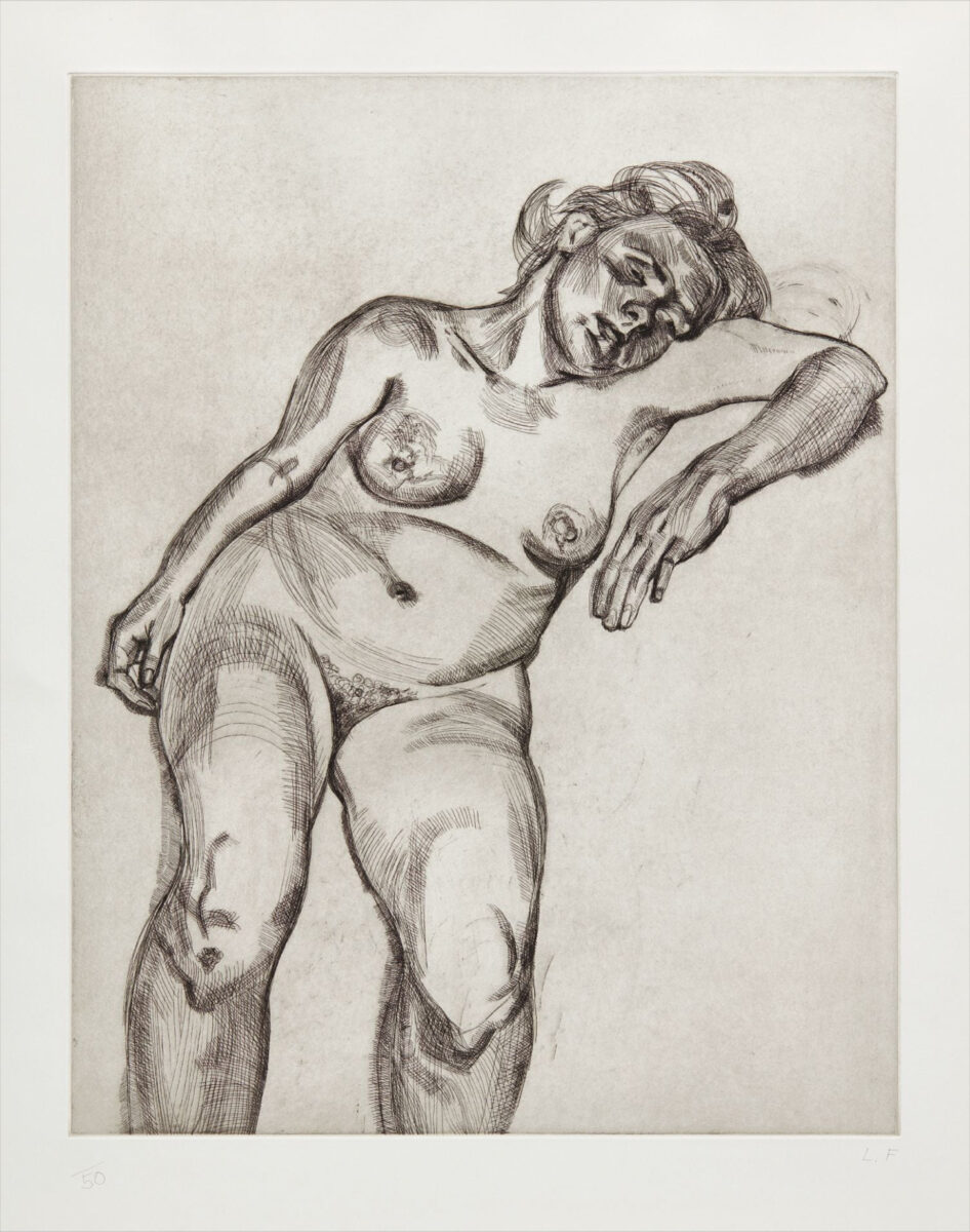 Lucian Freud Blond Girl original signed etching for sale