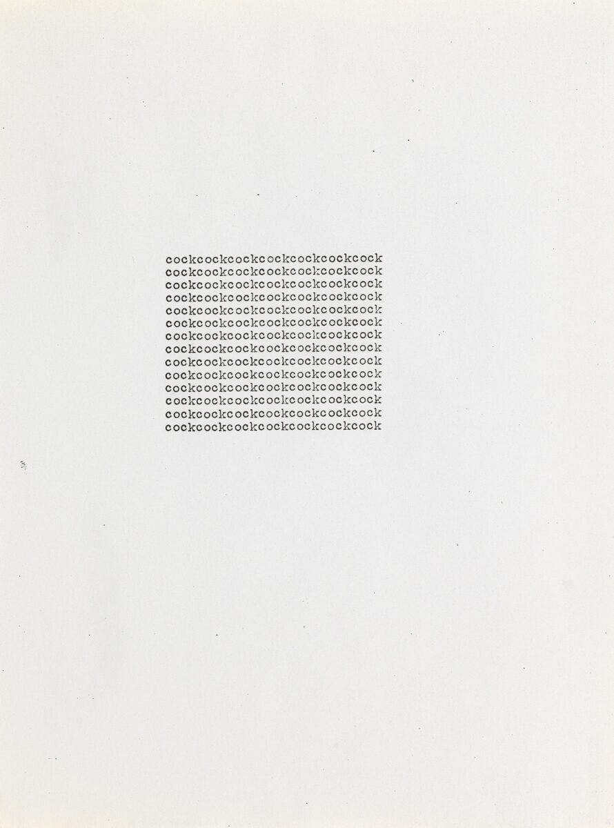 Carl Andre cockcockcockcockcockcockcock unique print for sale