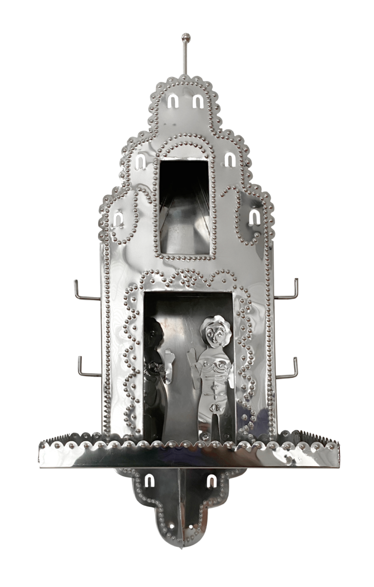 Grayson Perry House of Love original steel shrine with two steel figures from the edition of 50 for sale