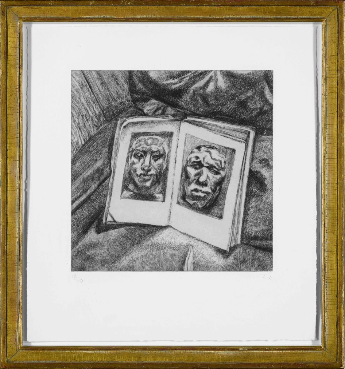 Lucian Freud The Egyptian Book original signed etching for sale