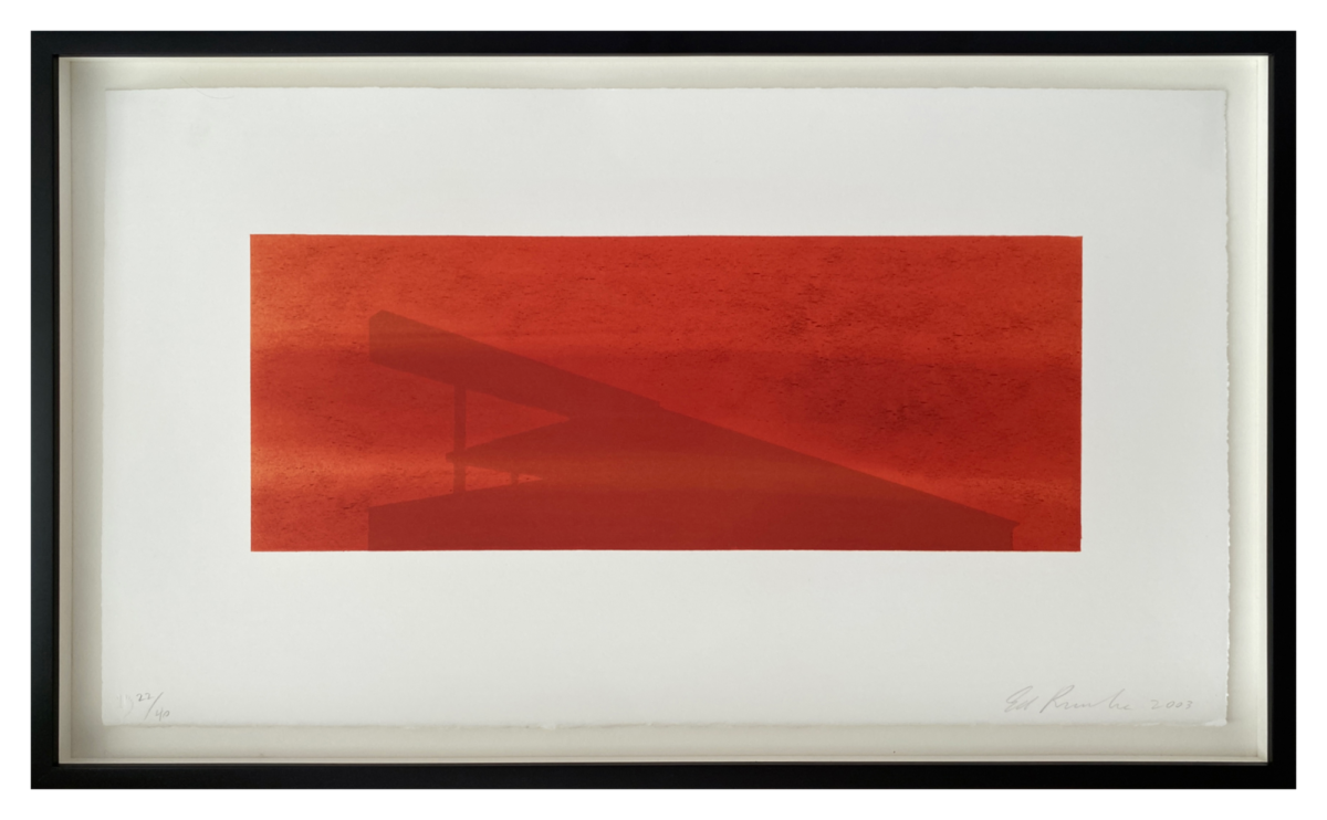 Ed Ruscha Roadmaster original signed lithographic print for sale