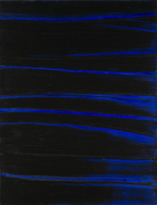 Pierre Soulages Peinture 1 Octobre 2003, 81 x 63 cm, original painting for sale