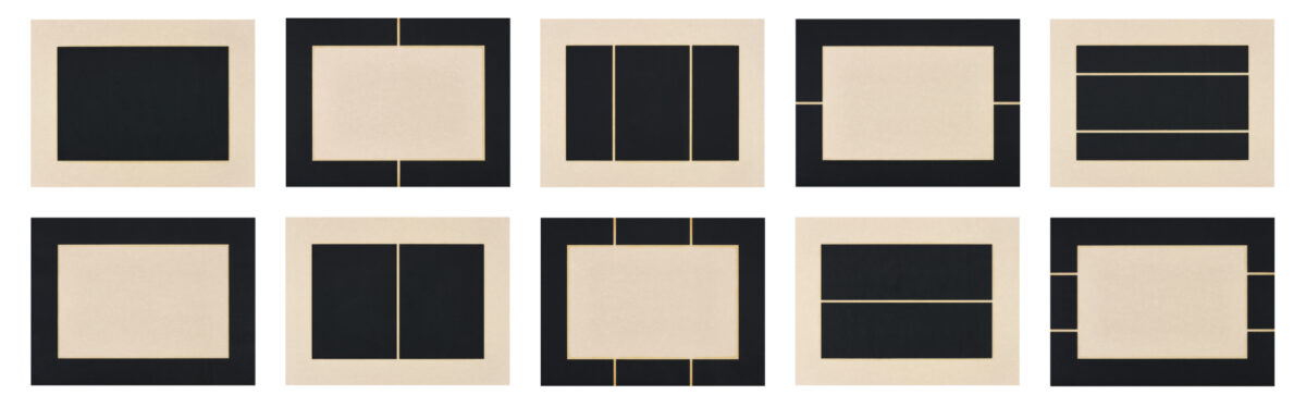 Donald Judd Untitled complete set of 10 woodcuts in black on okawara paper signed and dated by the artist on the reverse
