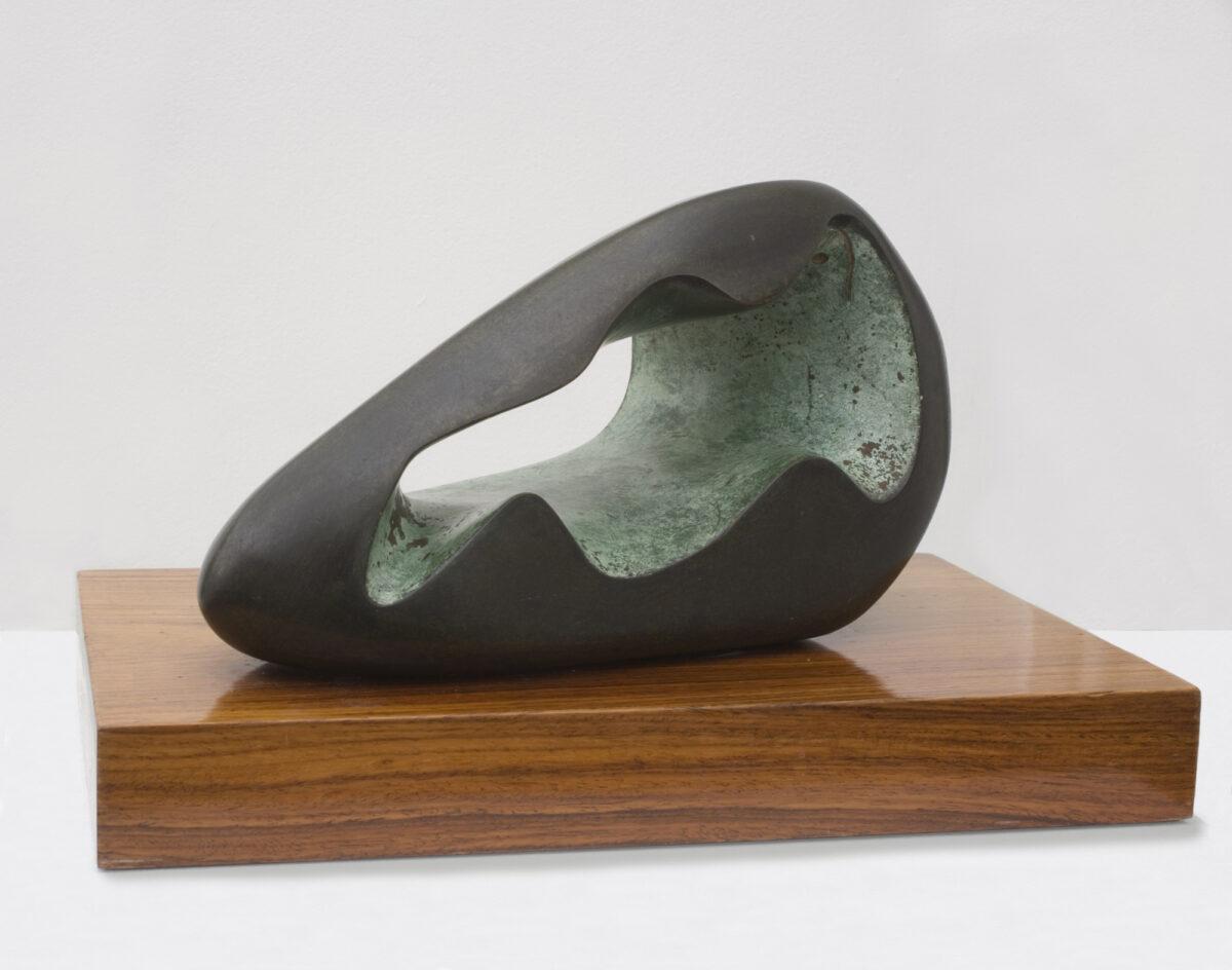 Barbara Hepworth Figure in a landscape (Zennor) signed bronze cast