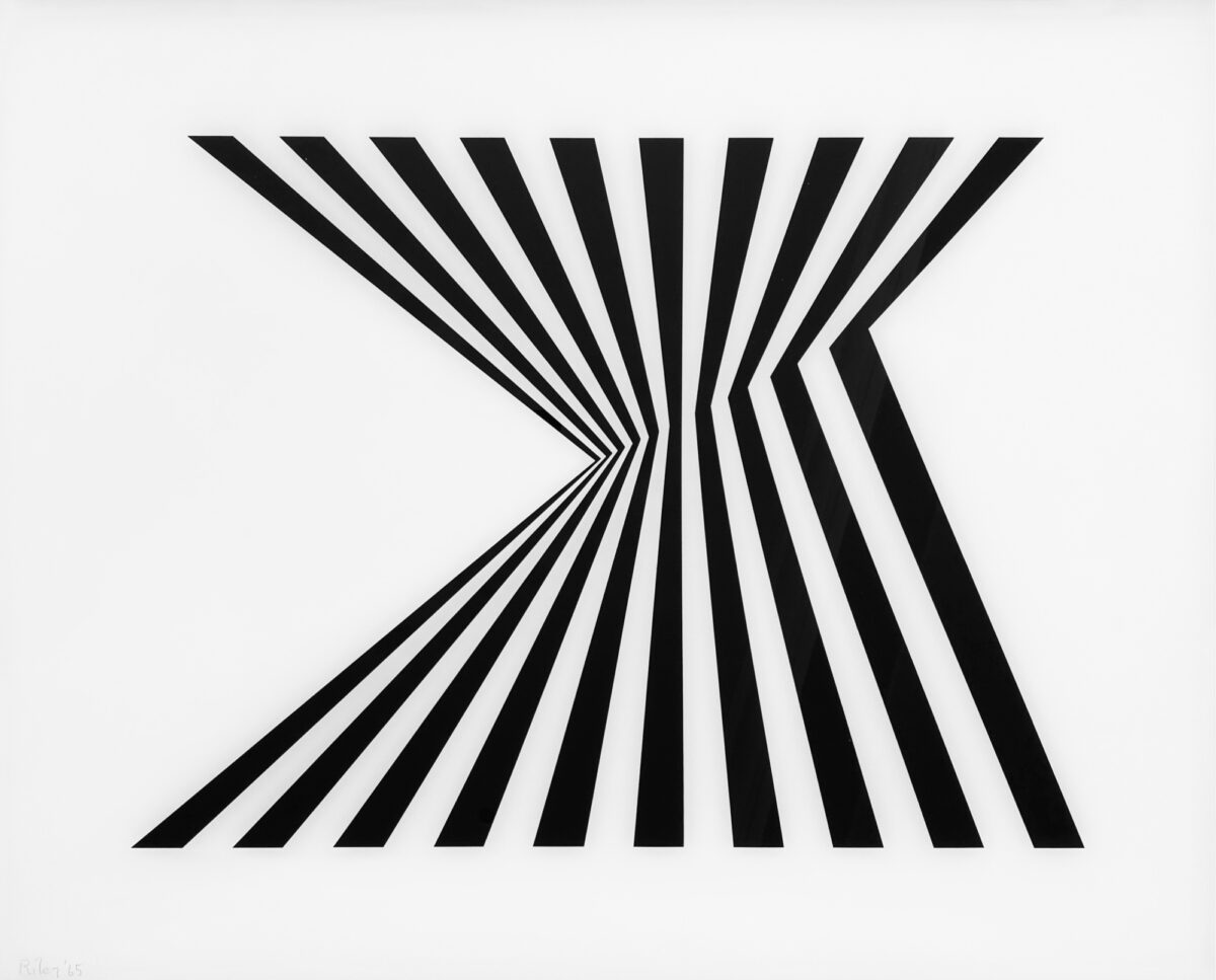 Bridget Riley Untitled [Fragment 1] black and white screenprint on plexiglas for sale