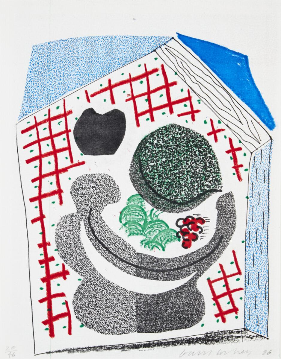 A18 44 HOCKNEY Bowl of Fruit 2046 sheet