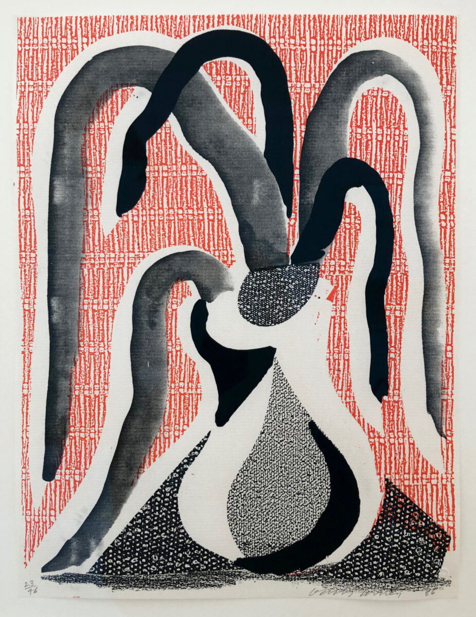 David Hockney The Drooping Plant, original hand made print for sale