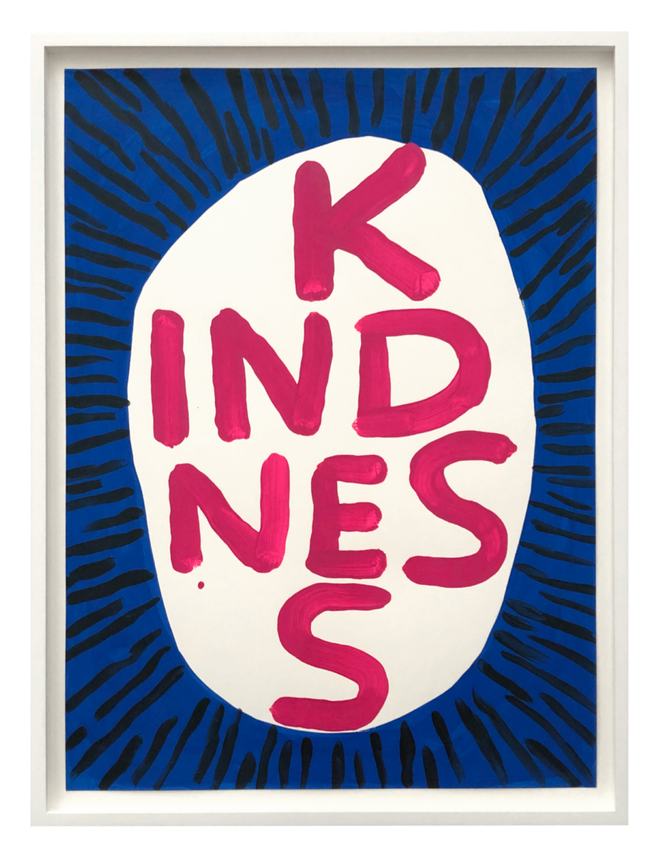 David Shrigley Kindness screenprint in colours on wove paper from edition of 125 signed by artist for sale