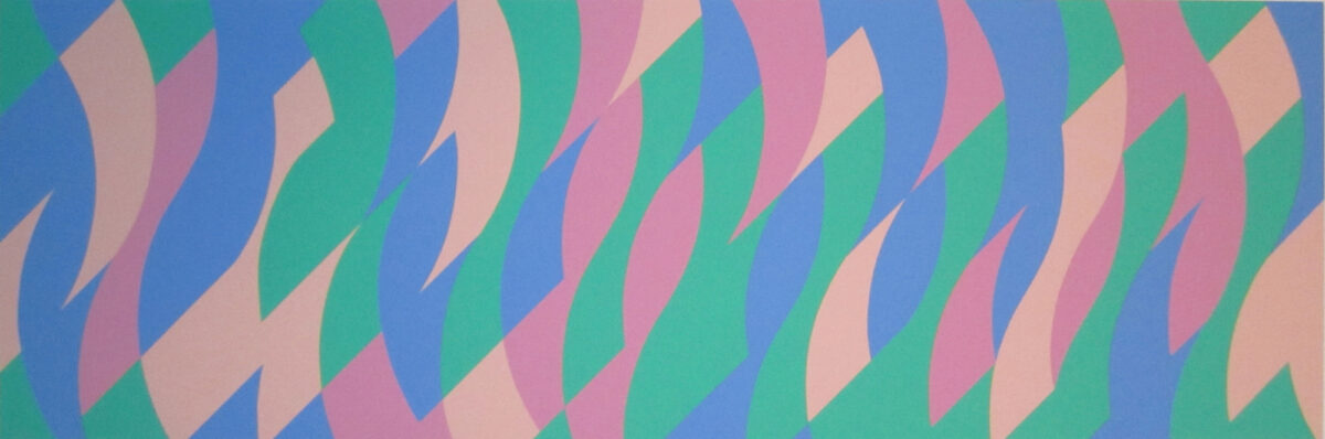 Bridget Riley Untitled (Evoe) original screenprint in colours