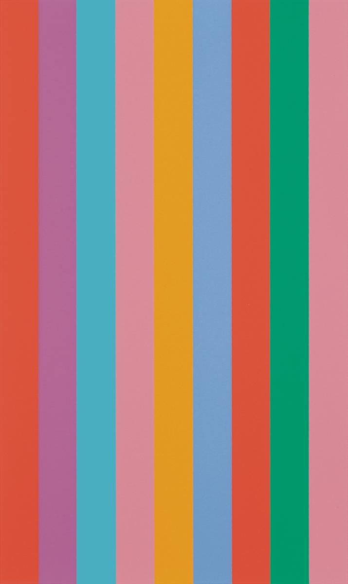 Bridget Riley Sideways original screenprint in colours for sale