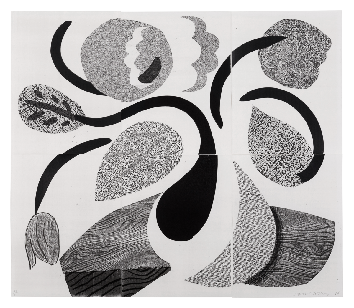 A18 98 Hockney Dancing Flowers sheet
