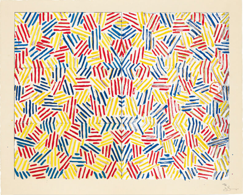Jasper Johns Corpse and Mirror original  Screenprint in colours, on Nishinouchi Kizuki Kozo paper signed dated and numbered by the artist for sale