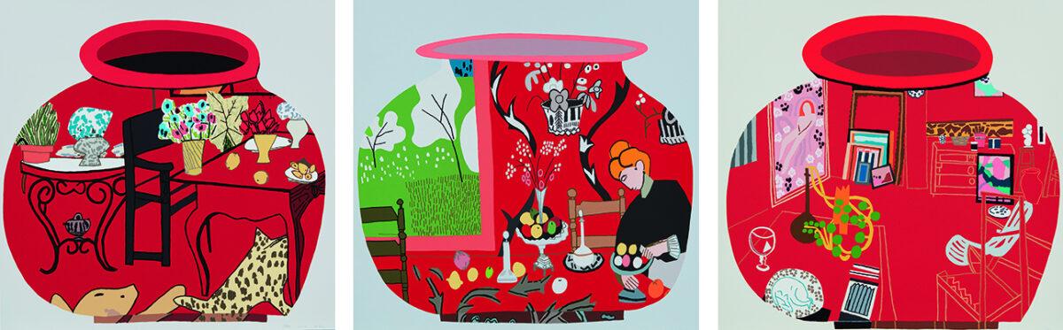 Jonas Wood Matisse Pots 1-3 original signed colour screenprints for sale