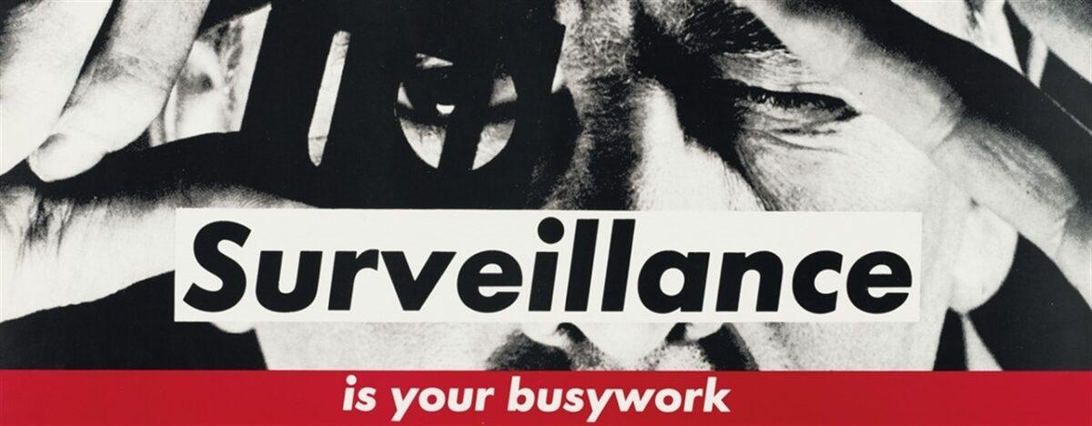 Barbara Kruger Surveillance is your busywork original subway poster on card for sale