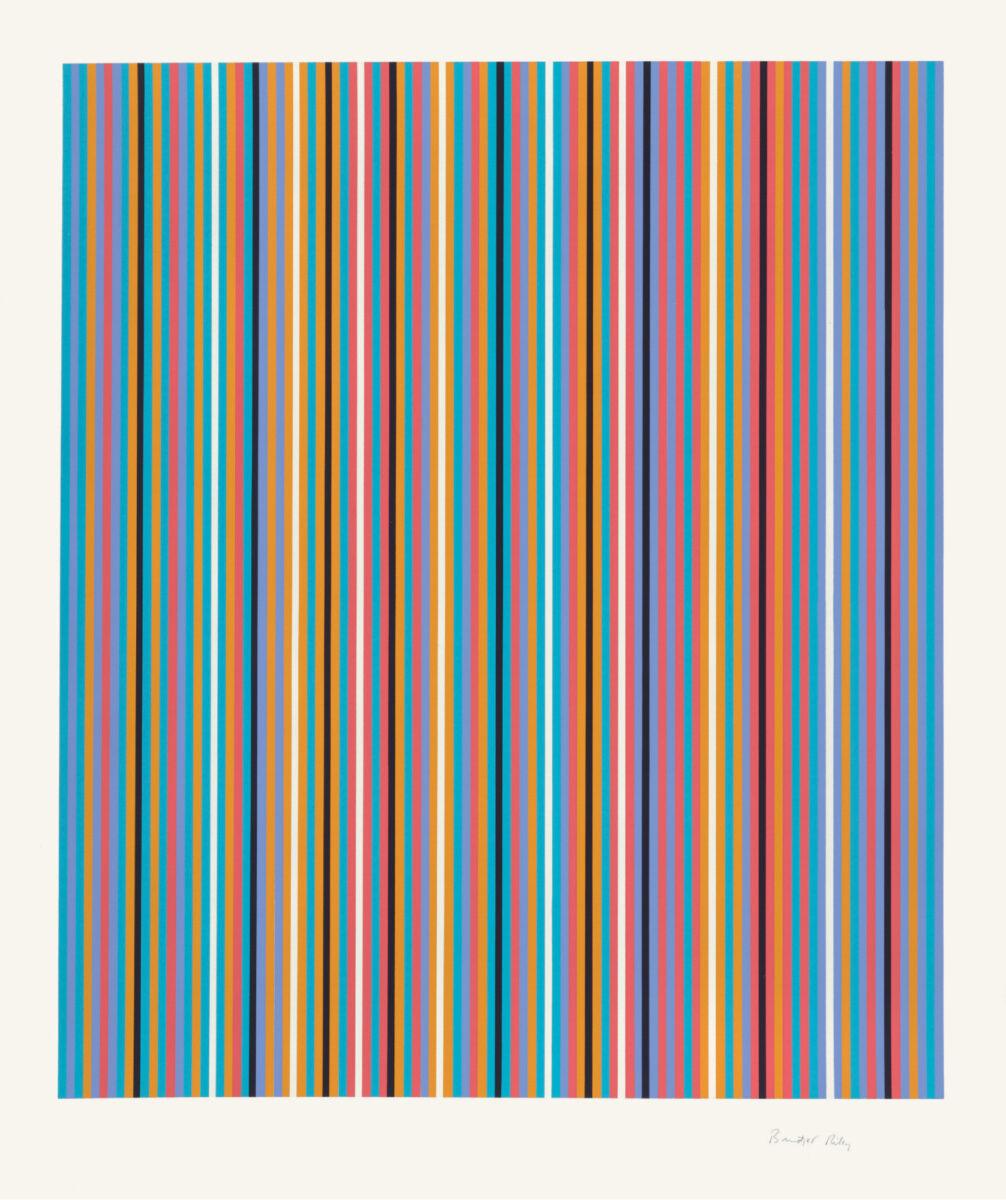 Bridget Riley Ra (Inverted) original colour screenprint for sale