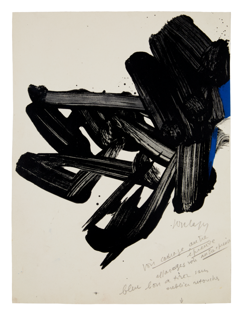 Pierre Soulages Lithographie no.17 original print in colours for sale