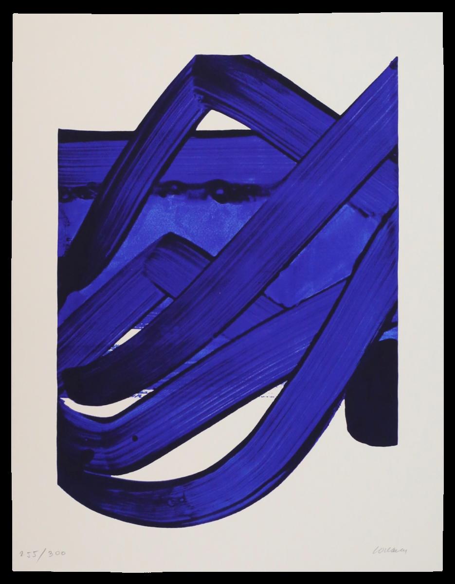 Pierre Soulages Séreigraphie 18 original colour screenprint for sale