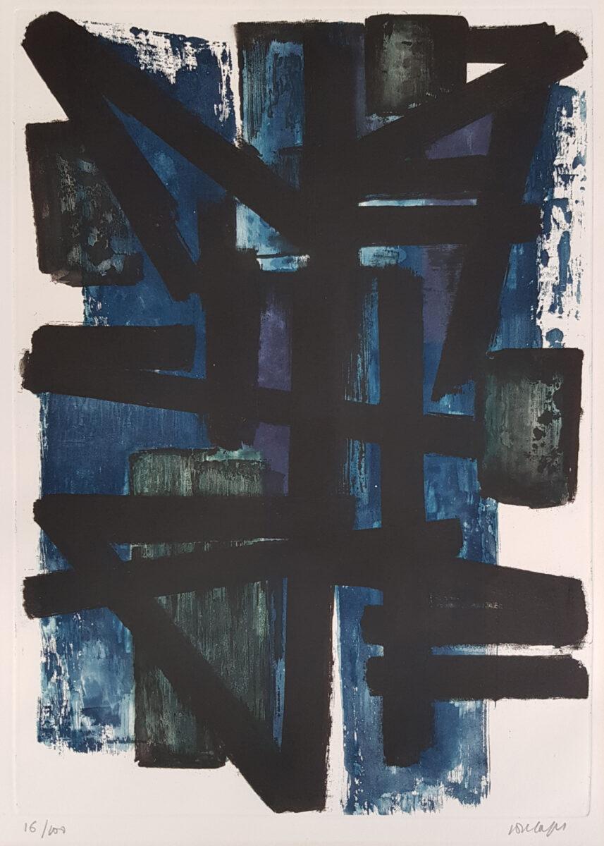 Pierre Soulages Eau-forte I original etching and aquatint print
