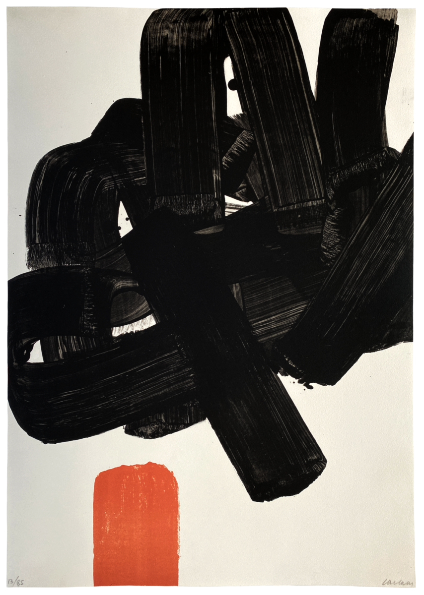 Pierre Soulages Lithographie no.24b original print in colours for sale