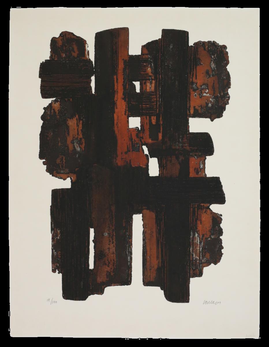 Pierre Soulages Eau-forte IX original etching and aquatint print for sale