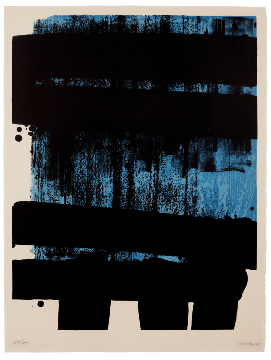 Pierre Soulages Lithographie no.36 original print in colours for sale