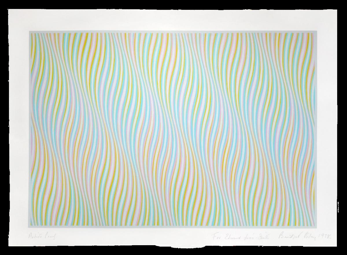 Bridget Riley Untitled [Blue] original colour screenprint