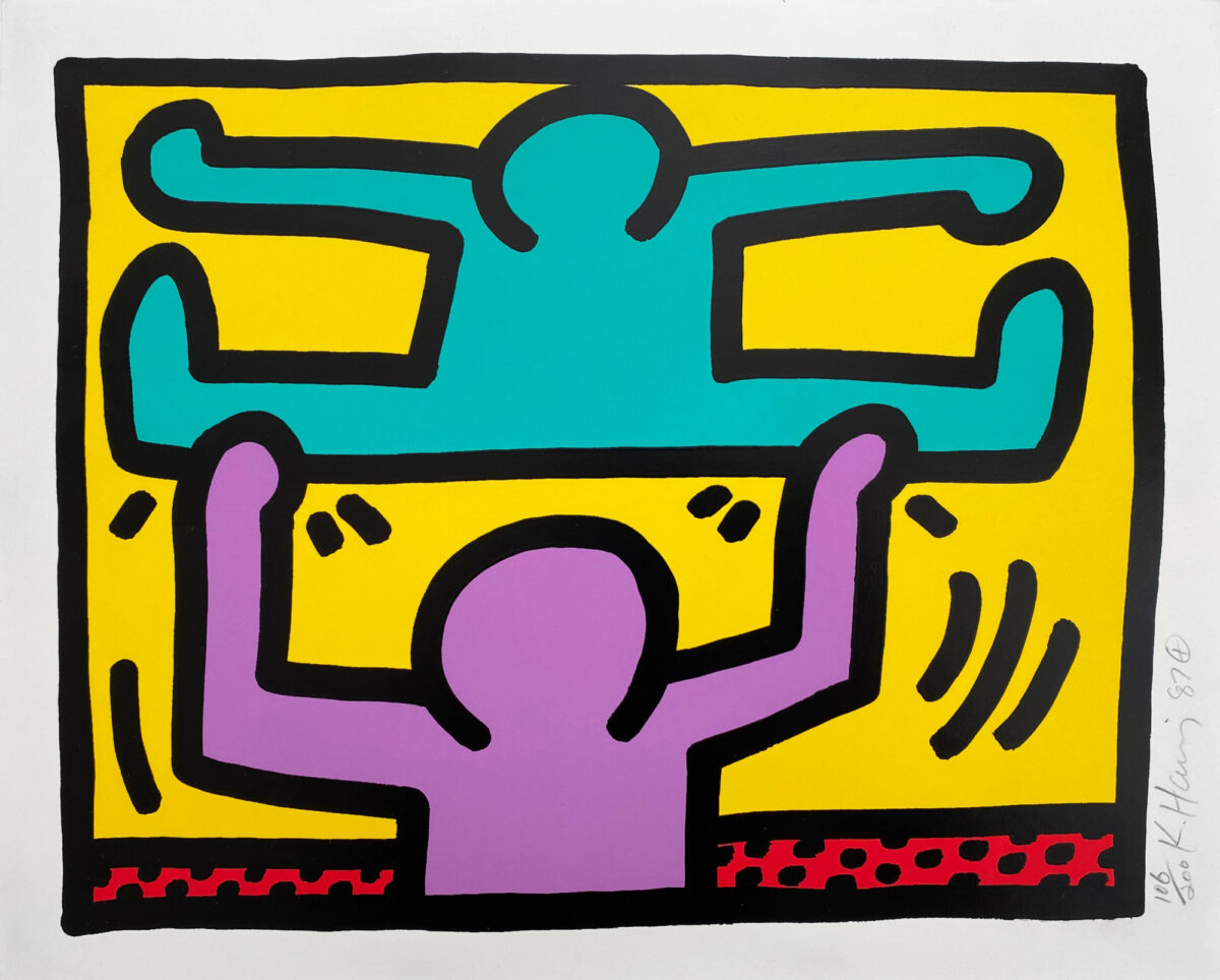 Keith Haring Pop Shop I (D) screenprint in colours on wove paper signed by artist for sale