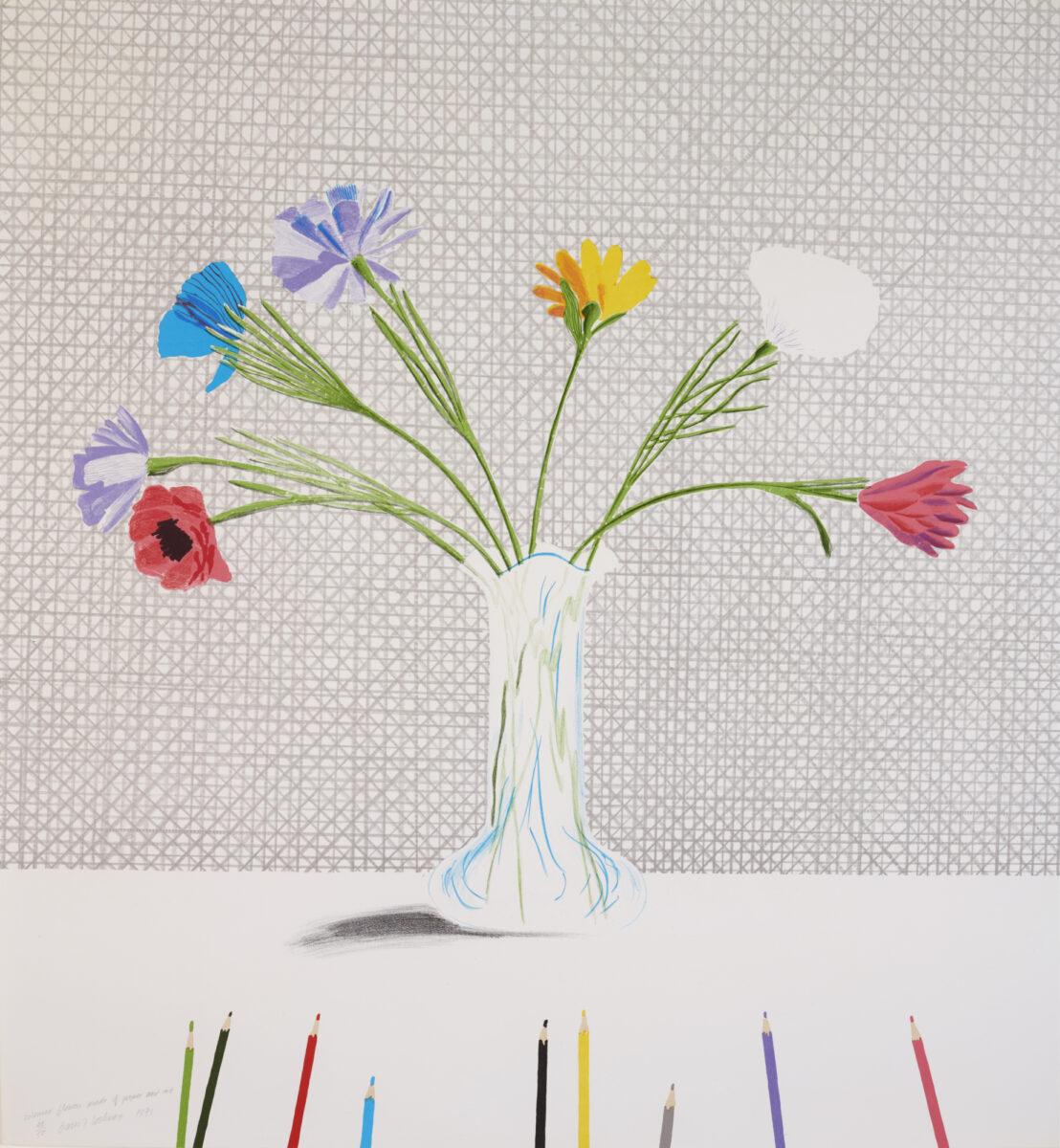 A20 58 HOCKNEY Coloured Flower crop