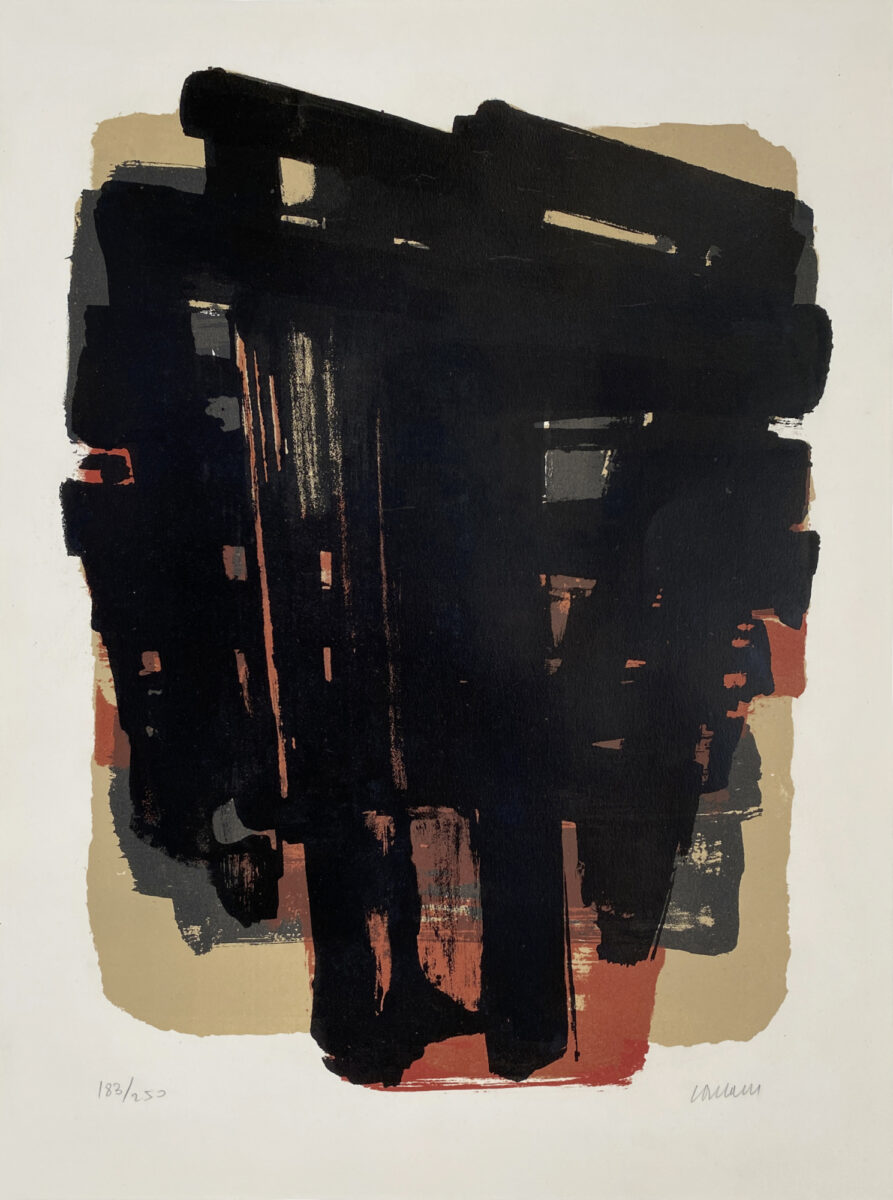 A20 61 SOULAGES Lithographie 8