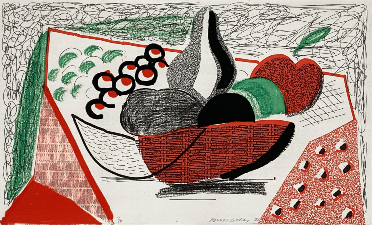 A21 14 HOCKNEY Apples Pears and Grapes