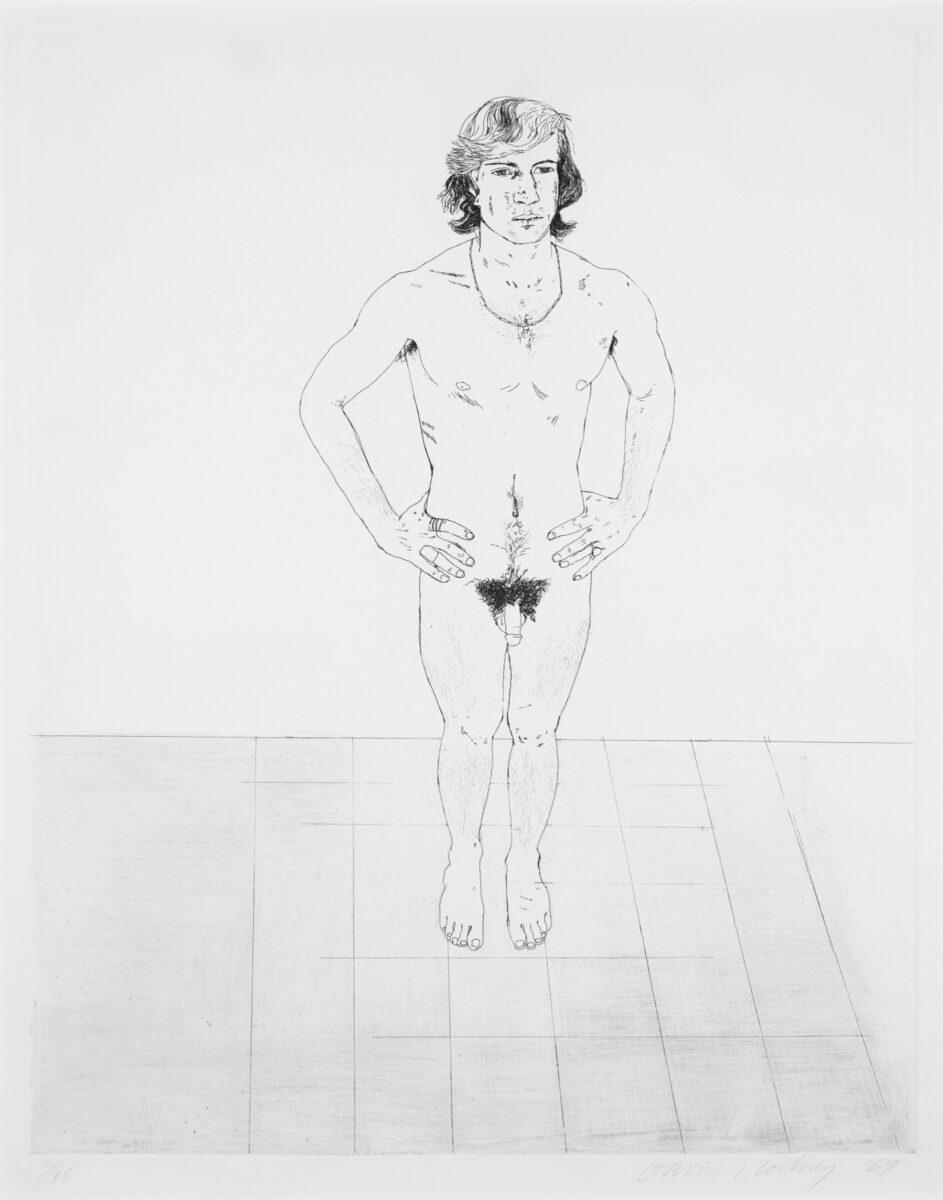 David Hockney Peter, original etching print for sale
