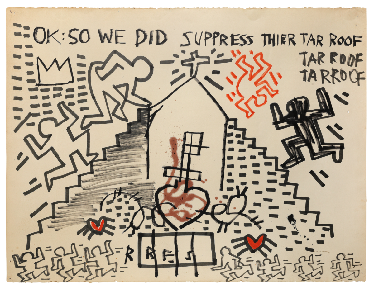 A21 56 Keith Haring and Jean Michel Basquiat cut out