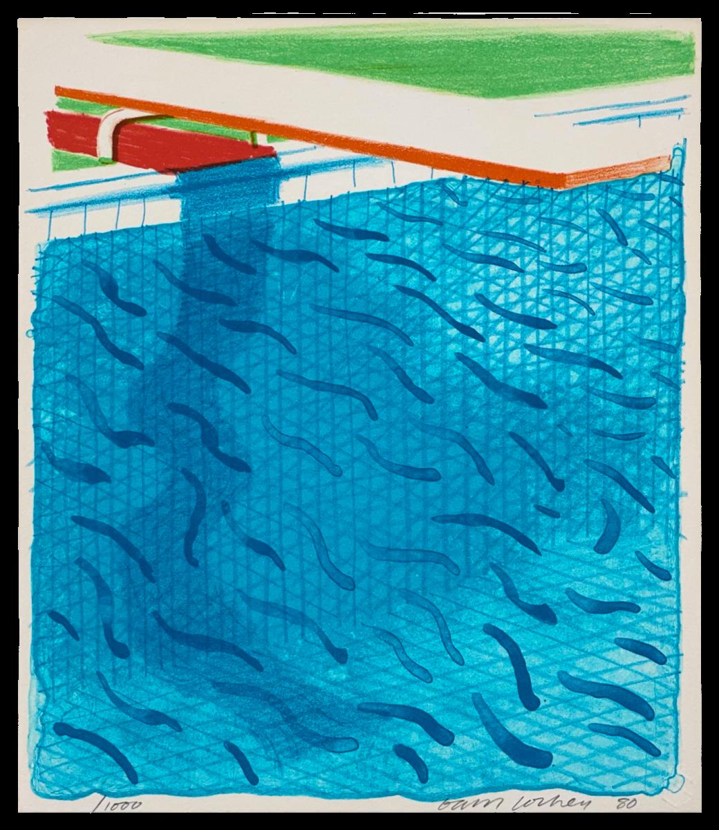 A21 80 HOCKNEY Paper Pool unnumbered