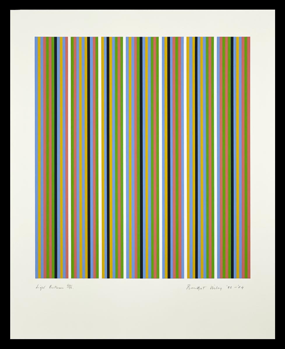 Bridget Riley Light Between, original framed screenprint in colours for sale