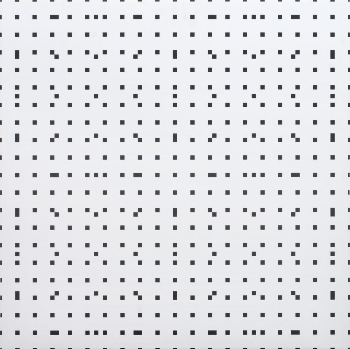 François Morellet Tous les 4, tous les 9, silkscreen print on board for sale