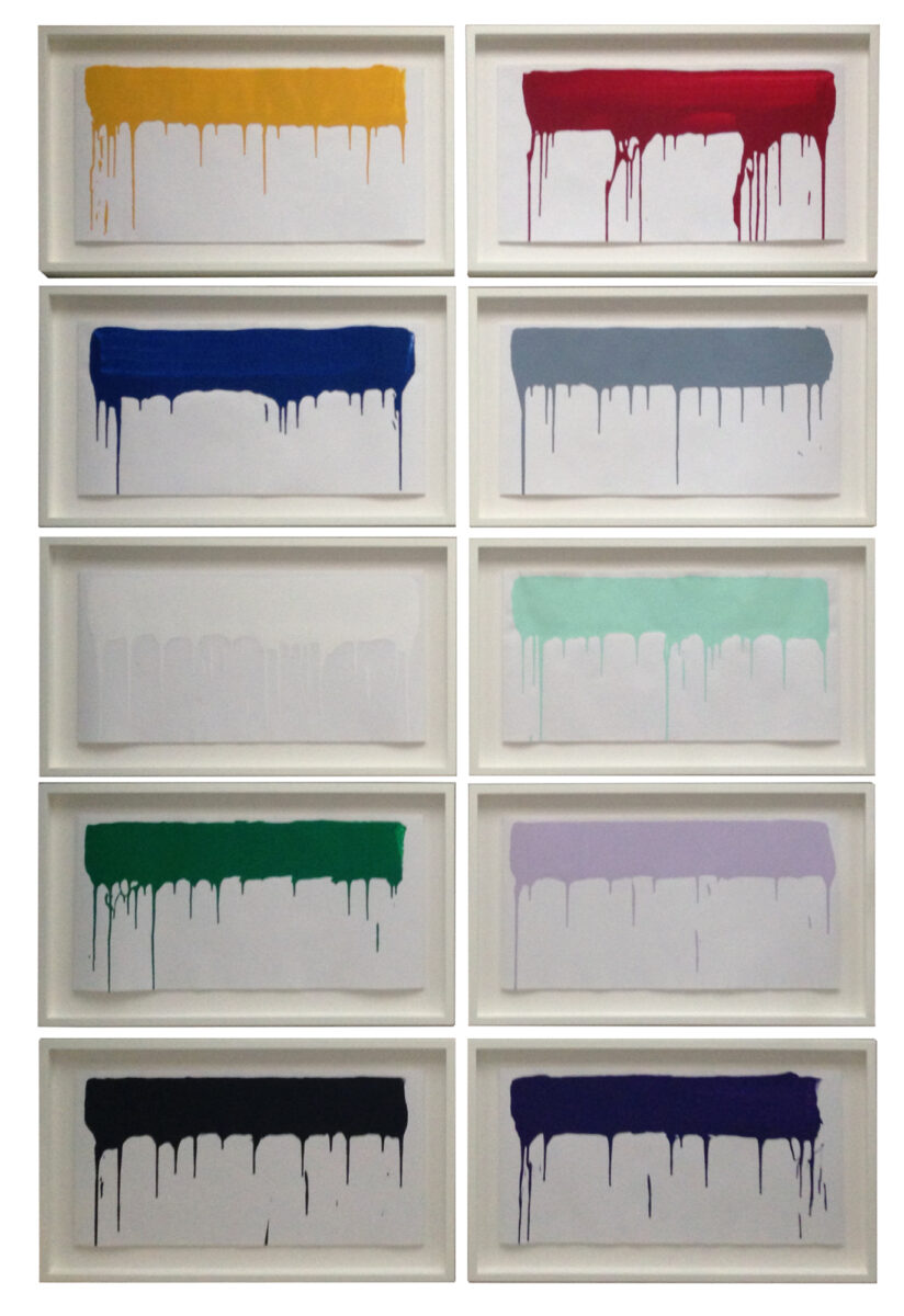 Ai Weiwei Coloured Paintings Industrial paint on 170gsm Munken Polar paper 10 works signed