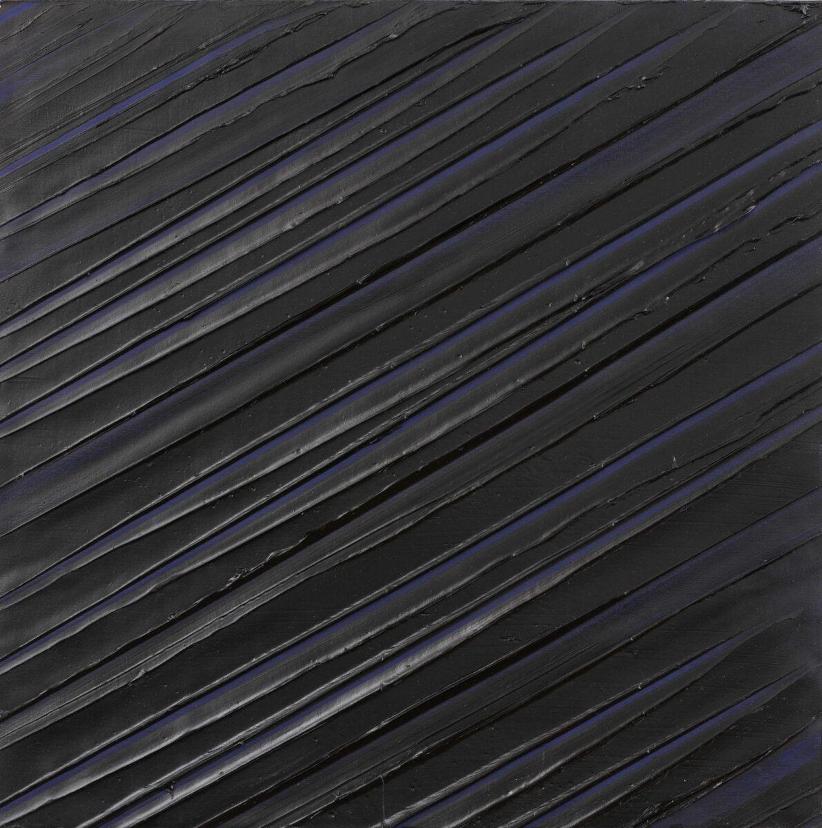 Pierre Soulages Peinture 43 x 43 cm, 8 mai 1997, original painting for sale