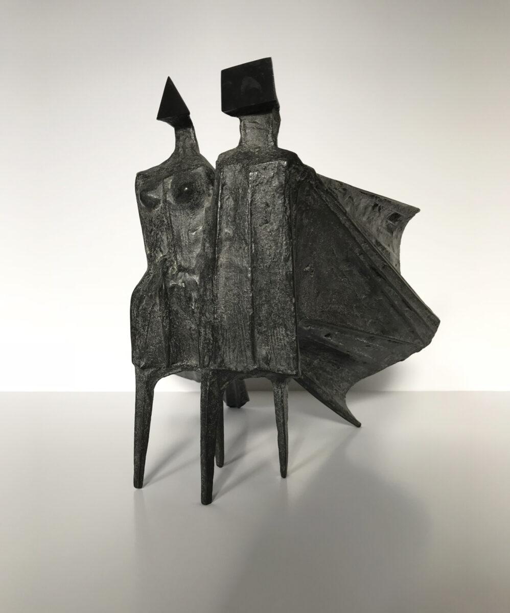 Lynn Chadwick Cloaked Couple III original bronze sculpture