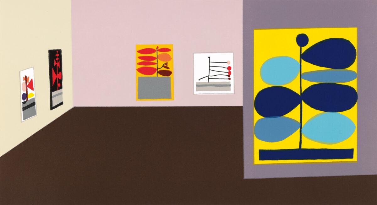 Jonas Wood Hammer Interior original 18 colour letterpress print for sale