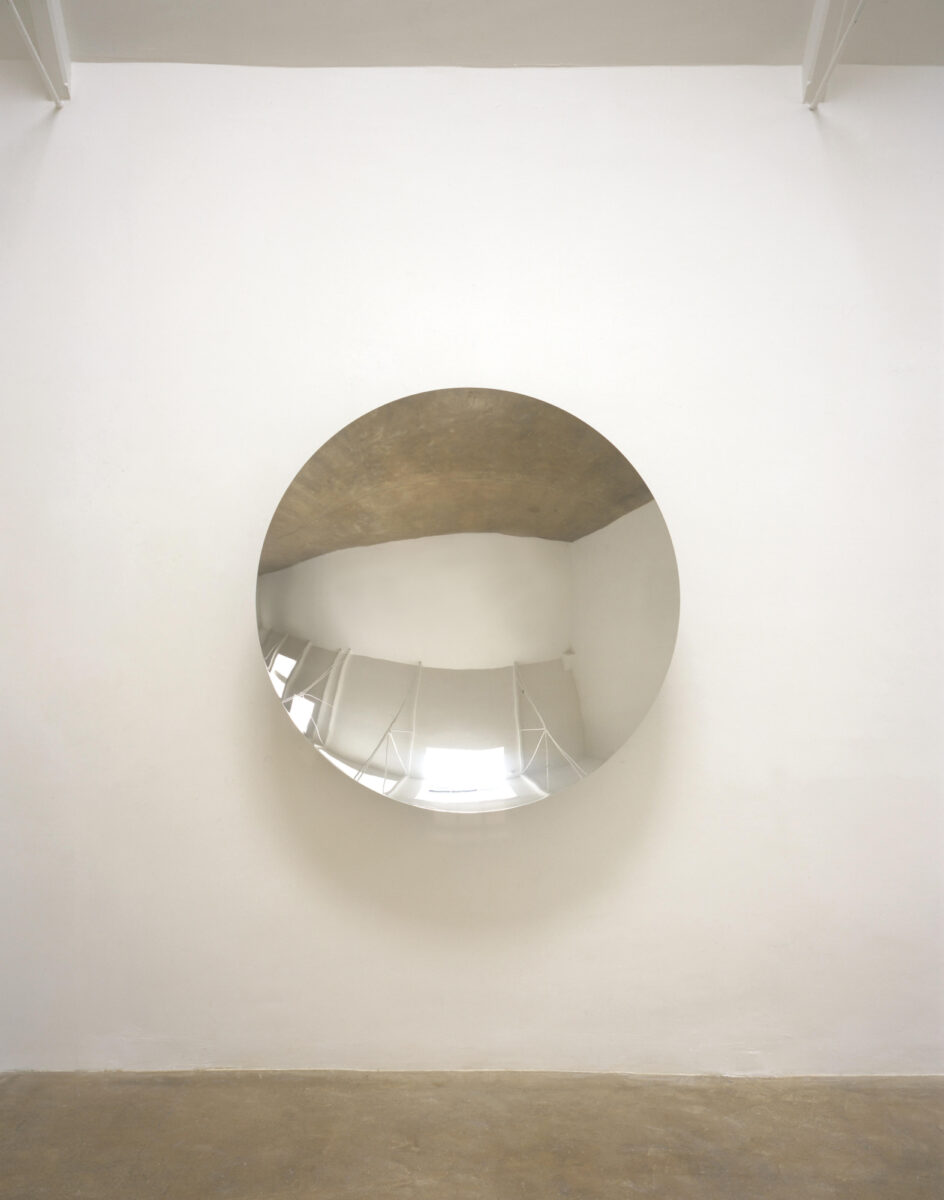 Anish Kapoor Untitled stainless steel mirror signed and dated for sale