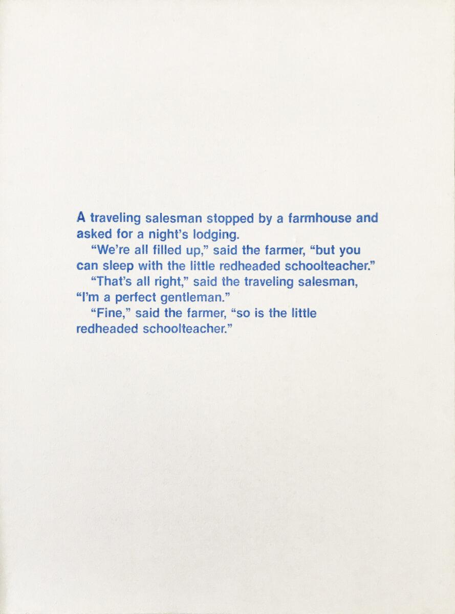 Richard Prince Untitled (A Travelling Salesman...) original silkscreen on canvas for sale