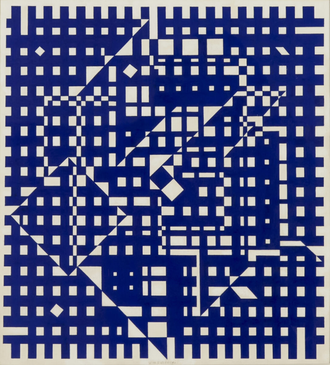 Victor Vasarely  Aguia I original gouache on paper signed by artist for sale