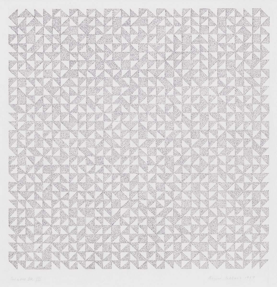 Anni Albers Triadic DR II original ink and graphite drawing for sale