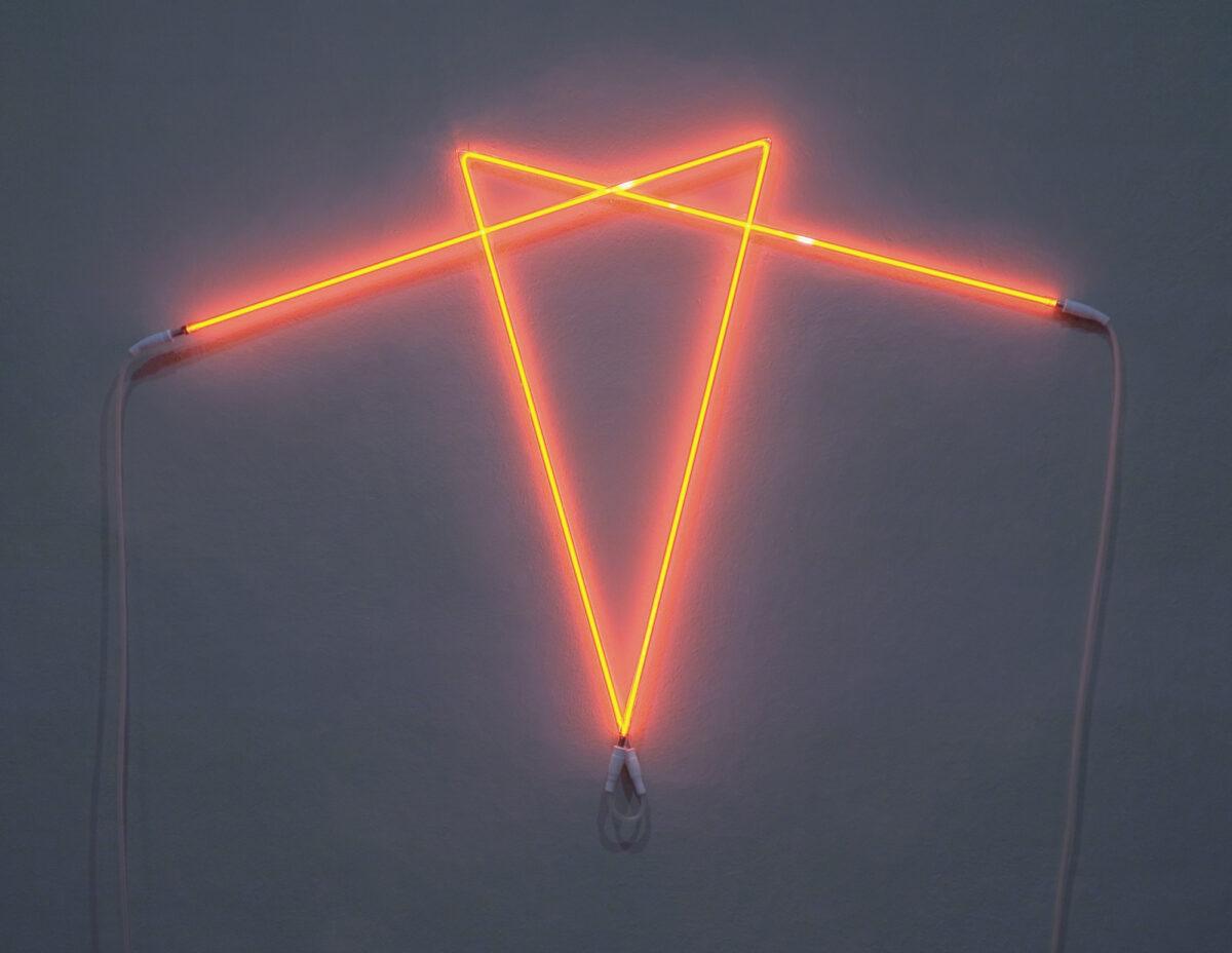 François Morellet Signalisation n°4 P limited edition Red neon tubes artwork for sale