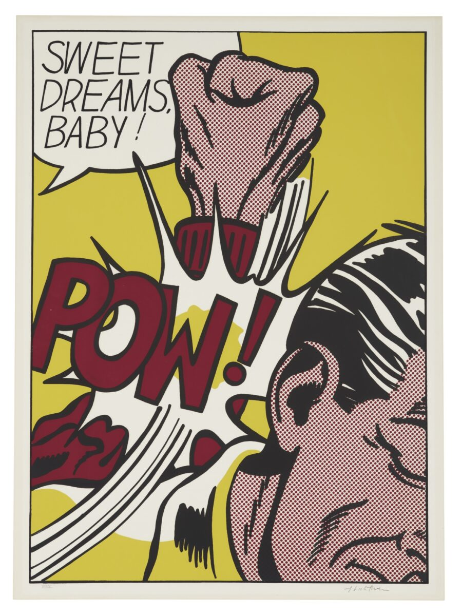 Roy Lichtenstein Sweet Dreams Baby! original screenprint in colours signed and numbered for sale