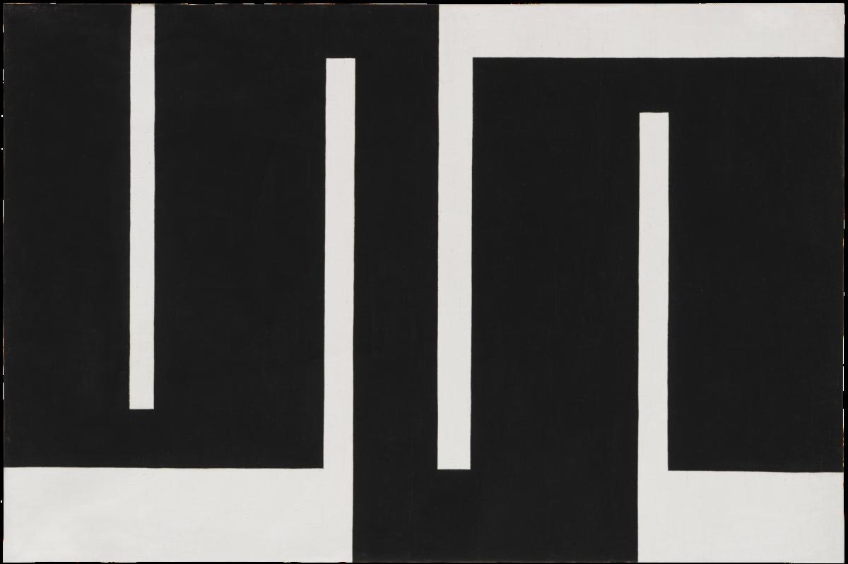 Julije Knifer Meander, Composition A oil on canvas signed on reverse for sale