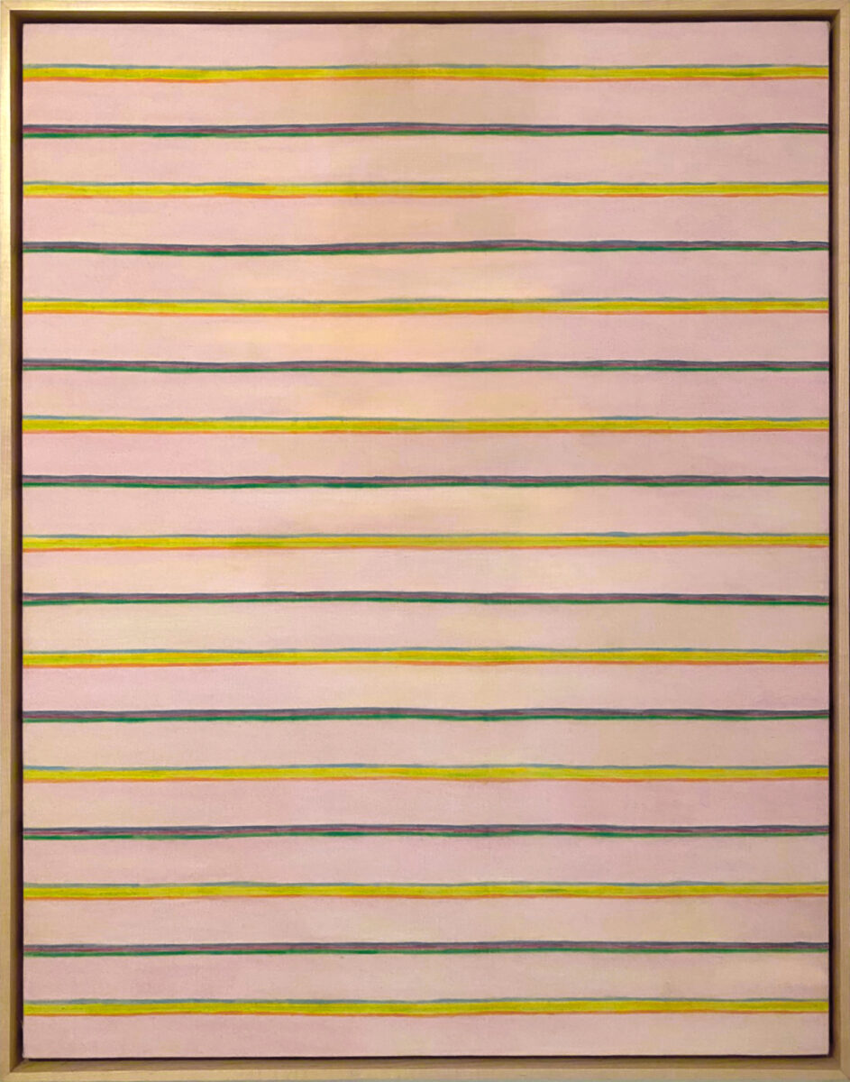 Gene Davis Pin Stripes original acrylic on canvas signed titled and dated for sale