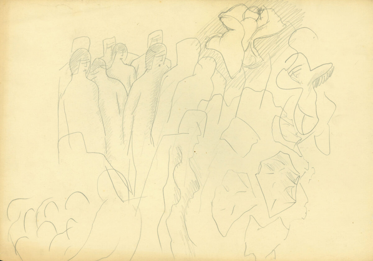 Stanley Spencer Untitled original pencil and paper stamped with stanley spencer studio sale stamp subject to availability